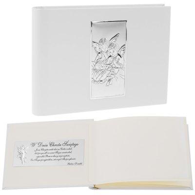 Album Modlące się Aniołki Skóra Srebro 925 Dedykacja