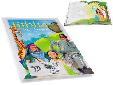 Biblia dla Dzieci na Komunie Chrzest dedykacja