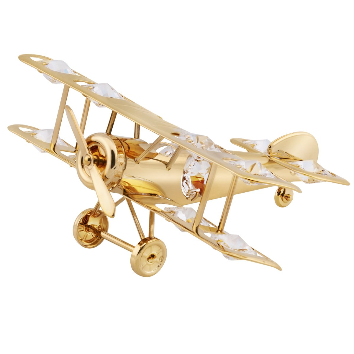 Samolot Swarowski pamiątka chrzest roczek