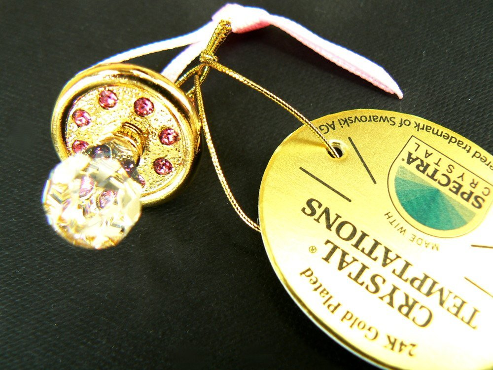 Smoczek mini różowy Pamiątka Chrzest Roczek Grawer