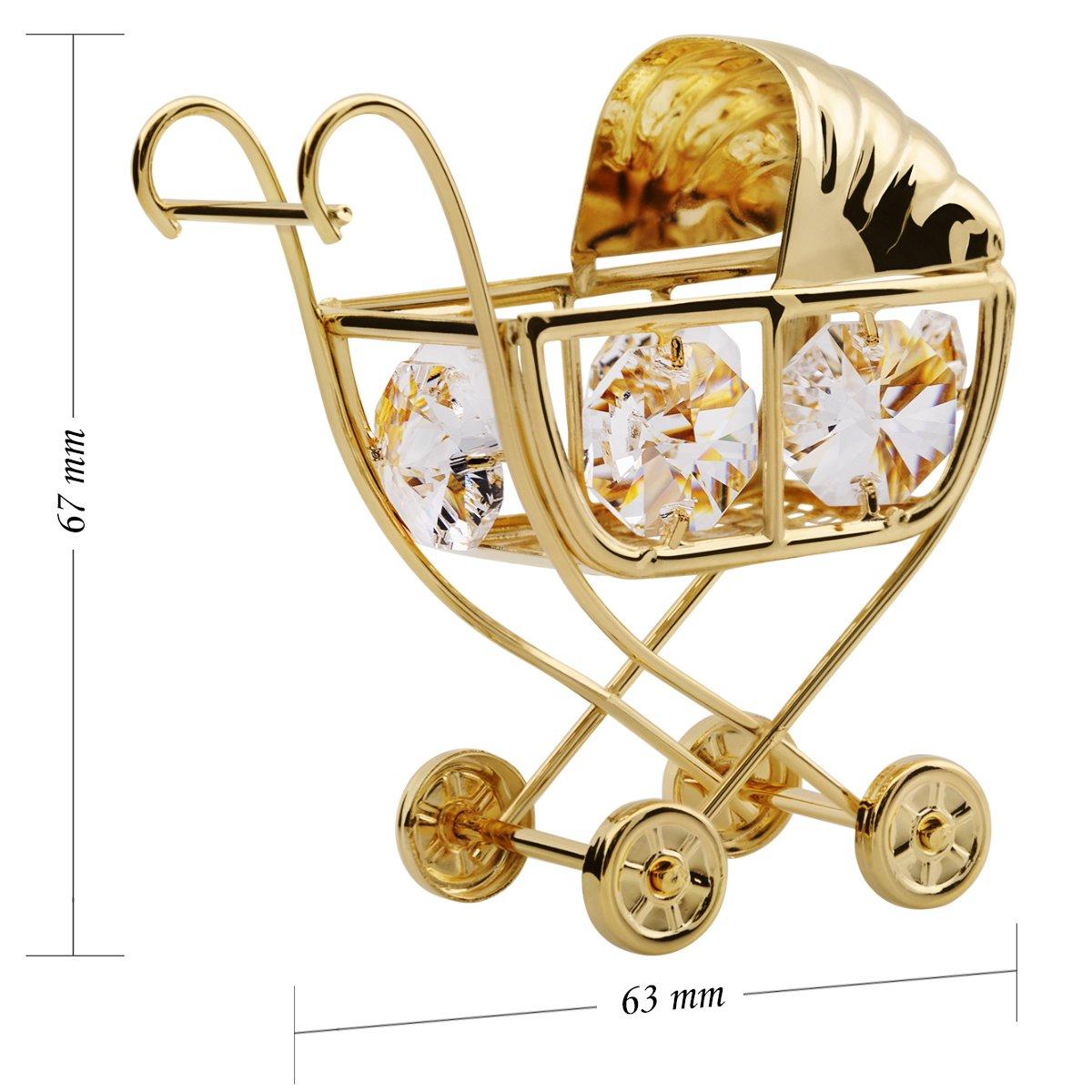 Wózek chrzest roczek Swarovski GRAWER