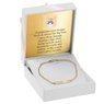 Bransoletka łańcuszek z blaszką złoto 585 z regulacją Grawer 2