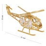 Helikopter Swarovski Pamiątka chrzest roczek z Dedykacją Niebieska Kokardka 5