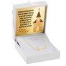 Naszyjnik celebrytka krzyżyk złoto pr. 585 z Grawerem 1