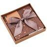 Pudełko na prezent brązowe serduszka S 3
