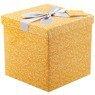 Pudełko na prezent pomarańczowe w gwiazdki M+ 1