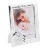 Ramka Pamiątka Chrztu Świętego Serce z dzieckiem 13 x 18 Srebro Grawer 2