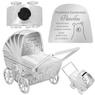 Skarbonka dla dziecka wózek - prezent na Chrzest, Baby Shower, Roczek | z Grawerem 2