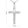 Srebrny Krzyżyk pr. 925 Chrzest Komunia Grawer 4