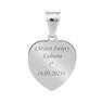 Srebrny Medalik Serce Matka Boska Częstochowska Pozłacana pr. 925 Grawer 2