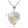 Srebrny Medalik Serce Matka Boska Częstochowska Pozłacana pr. 925 Grawer 4