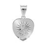 Srebrny Medalik Serce Matka Boska Częstochowska pr. 925 z Grawerem 2