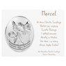 Srebrny Obrazek Anioł Stróż Pamiątka Chrztu Grawer 4