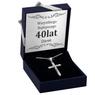 Srebrny krzyżyk z Jezusem z łańcuszkiem / dla mężczyzny, chłopca / z Grawerem i Dedykacją 2