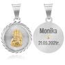 Srebrny medalik Matka Boska Częstochowska GRAWER 7