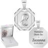 Srebrny medalik Matka Boska Madonna Pamiątka na Chrzest GRAWER 6