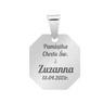 Srebrny medalik - Matka Boska z Dzieciątkiem / na Chrzest Św./ I Komunię Św./ GRAWER   pr. 925 4