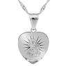 Srebrny medalik z Matką Boską Częstochowską z łańcuszkiem / serce / pr. 925 / z Grawerem 3