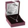 Srebrny wisiorek  pr. 925 serce z rubinową cyrkonią DEDYKACJA 1