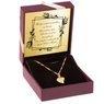 Złoty Łańcuszek wisiorek Serce 585 Prezent GRAWER różowa kokardka 3