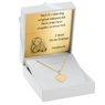 Złoty Medalik Pr 585 Matka Boska Chrzest Dedykacja niebieska kokardka 7