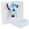 Złoty Medalik Pr 585 Matka Boska Chrzest Dedykacja niebieska kokardka 6