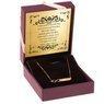 Złoty Naszyjnik pr. 333 nieskończoność z blaszką na Grawer i Dedykacja 1