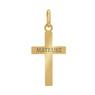 Złoty krzyżyk / pr. 585 / prezent na Chrzest Św., I Komunię Św., Bierzmowanie / z Grawerem 4