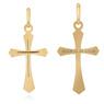 Złoty krzyżyk pr. 585 z GRAWEREM / prezent na I Komunie Św., Chrzest Św.