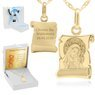 Złoty medalik Matka Boska i Jezusem pr. 585 Grawer 1