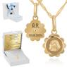 Złoty medalik Matka Boska z łańcuszkiem Dedykacja 1