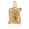 Złoty medalik pr. 585 Matka Boska z Małym Jezusem Chrzest Komunia Grawer 1