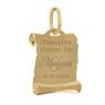 Złoty medalik pr. 585 Matka Boska z Małym Jezusem Chrzest Komunia Grawer 3