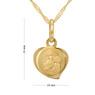 Złoty medalik z Matką Boską Częstochowską serduszko pr. 333 Chrzest Komunia Grawer niebieska kokardka 5