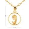 Złoty medalik z Matką Boską Fatimską w okręgu pr. 585 Dedykacja 6