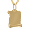 Złoty medalik z łańcuszkiem pr. 585 Matka Boska z Małym Jezusem Chrzest Komunia z Grawerem 8