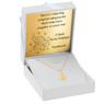 Złoty medalik z łańcuszkiem próba 585 z wizerunkiem Matki Boskiej Chrzest Komunia Bierzmowanie GRAWER niebieska kokardka 6