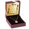 Złoty wisiorek ażurowa koniczynka pr. 585 Grawer 2